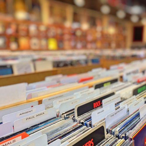 Il vintage del disco nero di vinile